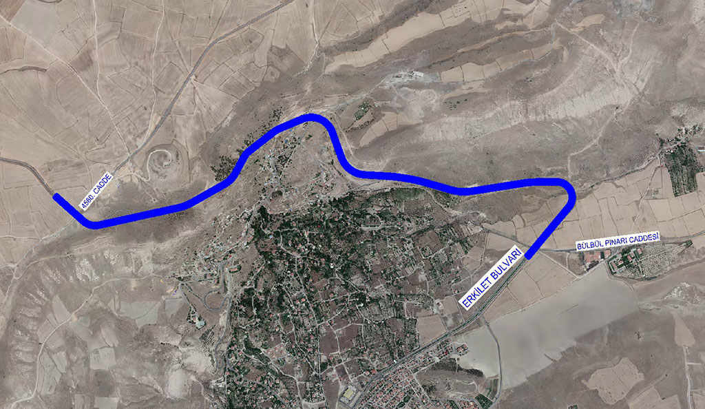 Büyükşehir'den Erkilet'te Önemli Yol Çalışması