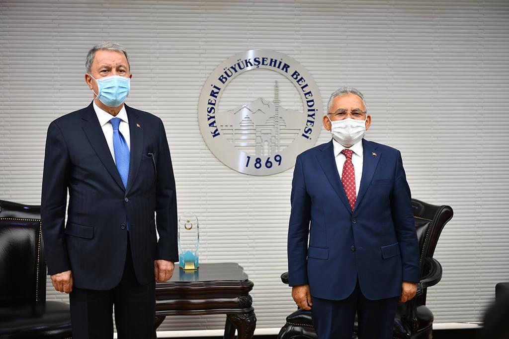 Başkan Büyükkılıç, Bakan Akar Ve Heyetini Büyükşehir'de Ağırladı