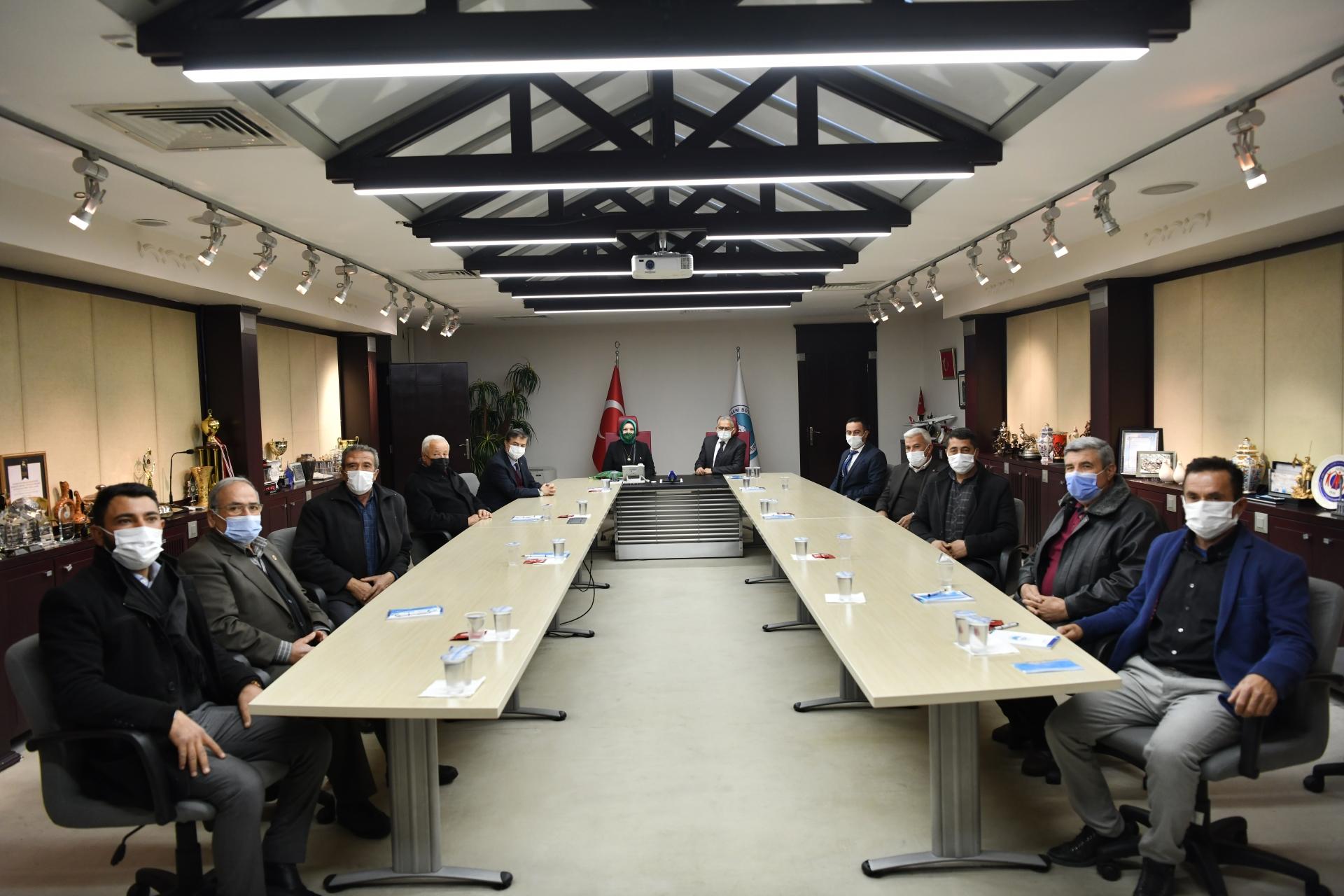 Büyükşehir'de 'Yeşilhisar' Toplantısı