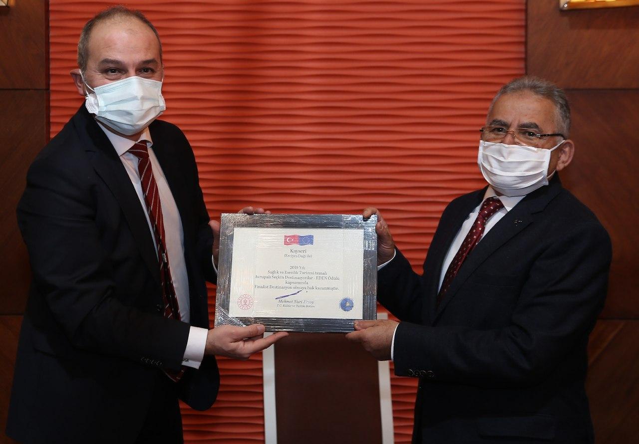Erciyes'e Bir Ödül de Avrupa Komisyonun'ndan