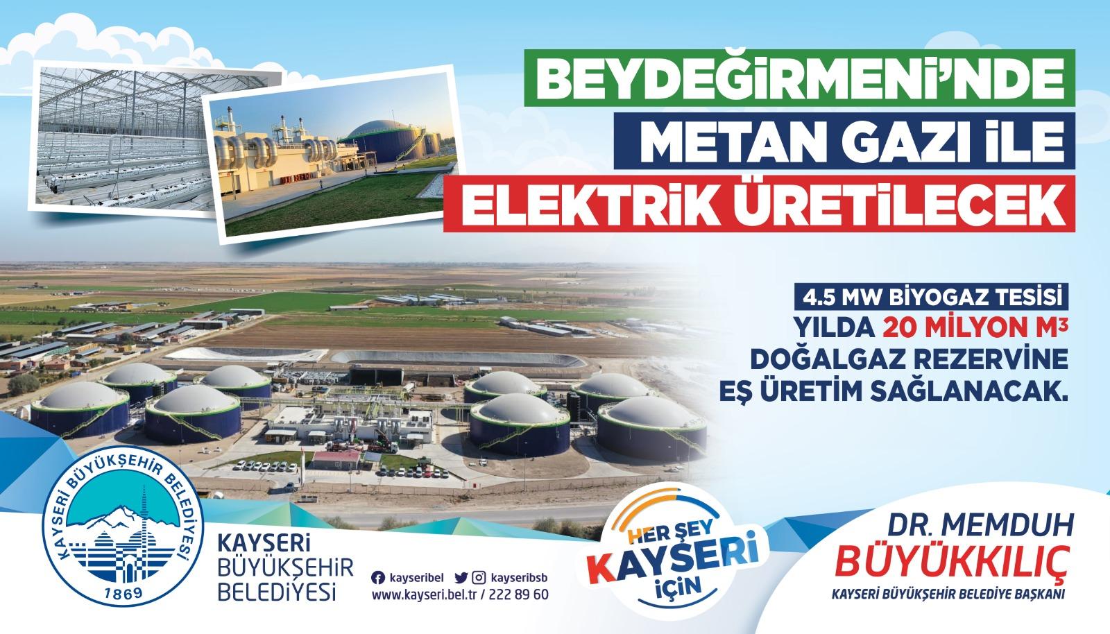 Kayseri'nin En Büyük Biyogaz Santrali Kuruluyor