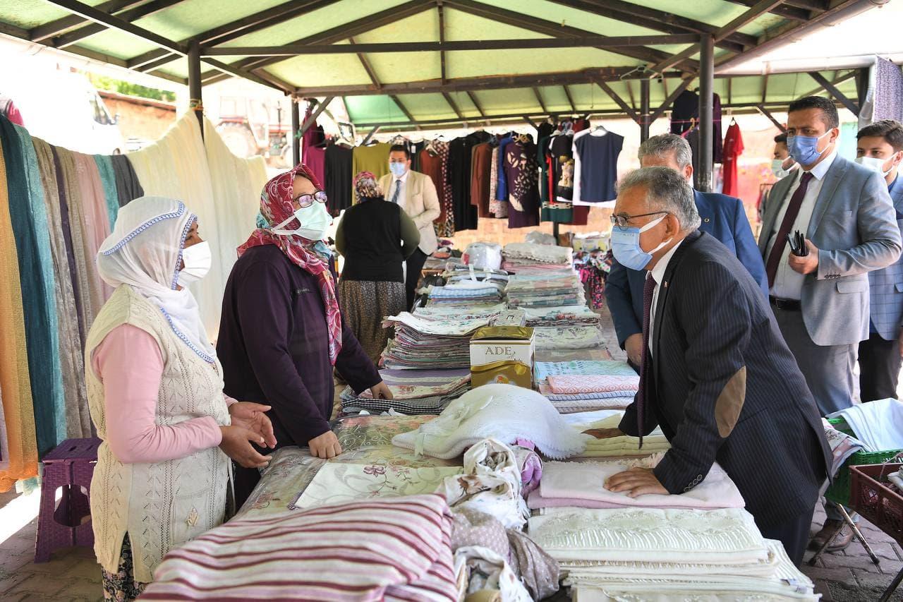 Başkan Büyükkılıç, Yemliha, Ebiç ve Mahzemin'de Vatandaşlarla Buluştu