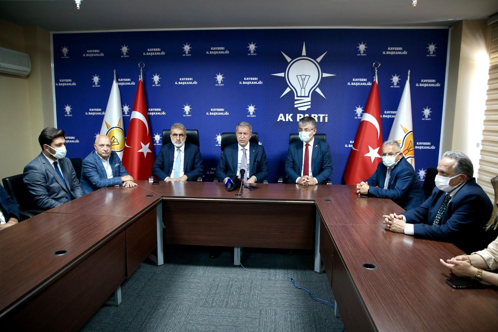Başkan Büyükkılıç, Bakan Akar ile Birlikte Cumhurbaşkanı Erdoğan'ın Bayramlaşma Programına Katıldı