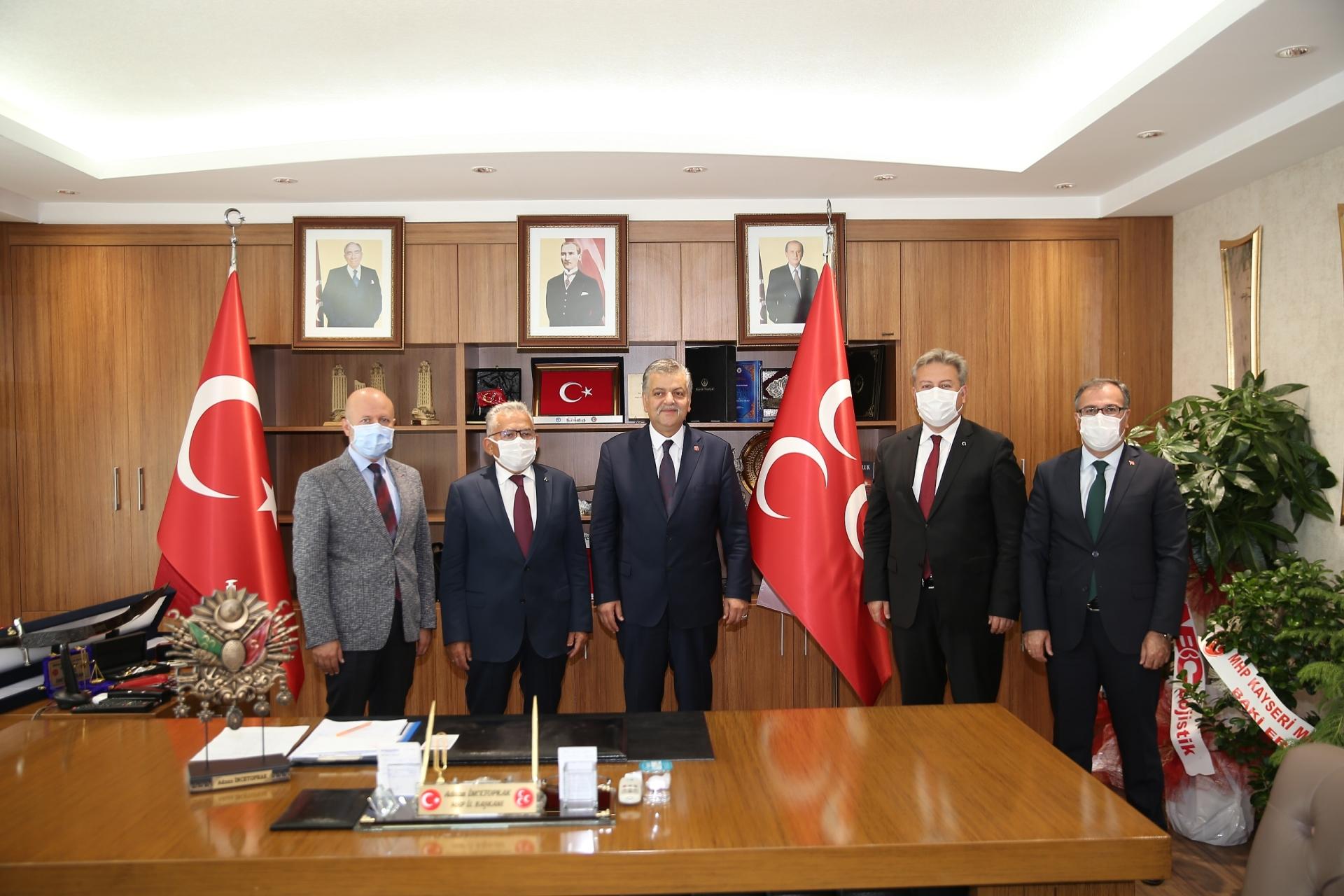 Büyükkılıç ve Başkanlardan MHP'nin Yeni İl Başkanına