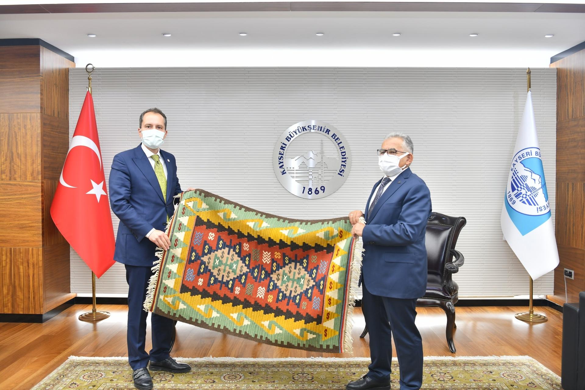 Yeniden Refah Partisi Genel Başkanı Erbakan'dan Büyükkılıç'a Nezaket Ziyareti